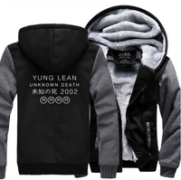 HAMPSON LANQE Yung Lean Unknown Death Sad Boys Punk Hoodies 2017 Winter Warm Fleece High Quality