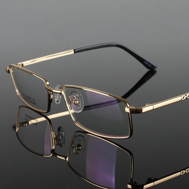 Aleación de gafas de marco moda para hombre lentes ópticas de fotograma completo ultraligero hombre gafas ópticas marco