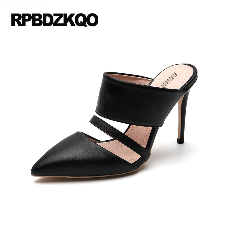 33 2017 Summer Pumps Mules Slipper 4 34 Small Size Black Nude Pointed Toe Heels Strap China Shoes Super Scarpin Sandals High 6cm 2 inch pointed toe 2017 thick ankle strap 4 34 small size china women pumps high heels shoes sandals brown retro clasp