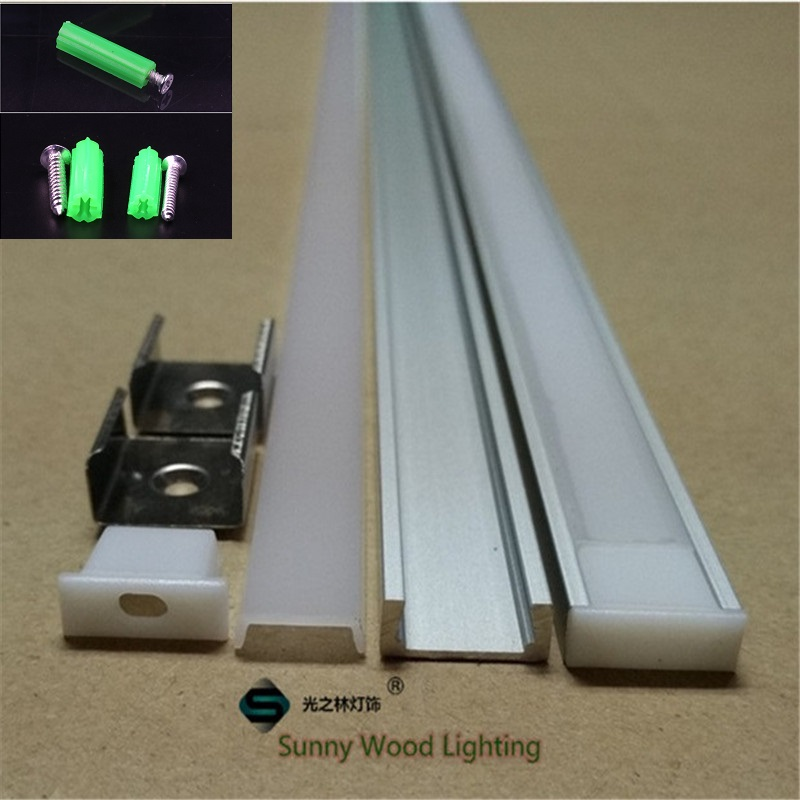 40m/lot 20pcs Of 2m 80inch/pc W16H6mm Aluminum Profile For Led Strip,led Channel For 8-11mm Strip,  Led Bar Light Track