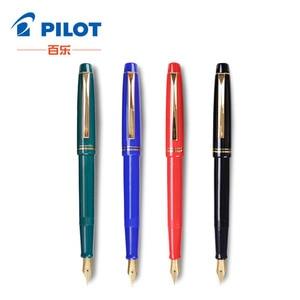 Image 2 - Pilot 78G Fountain Pens 22k Golden Original Iridium Fountain Pen With Converter for Writing Calligraphy EF F M B Nib Small Gift