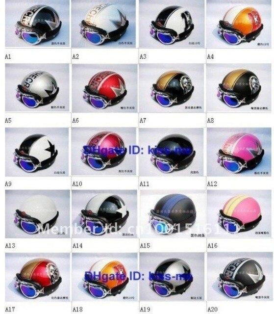 New Vespa Open Face Half Motorcycle & Motorcycle Helmet & Goggles & Visor XS S M L XL A1-A20