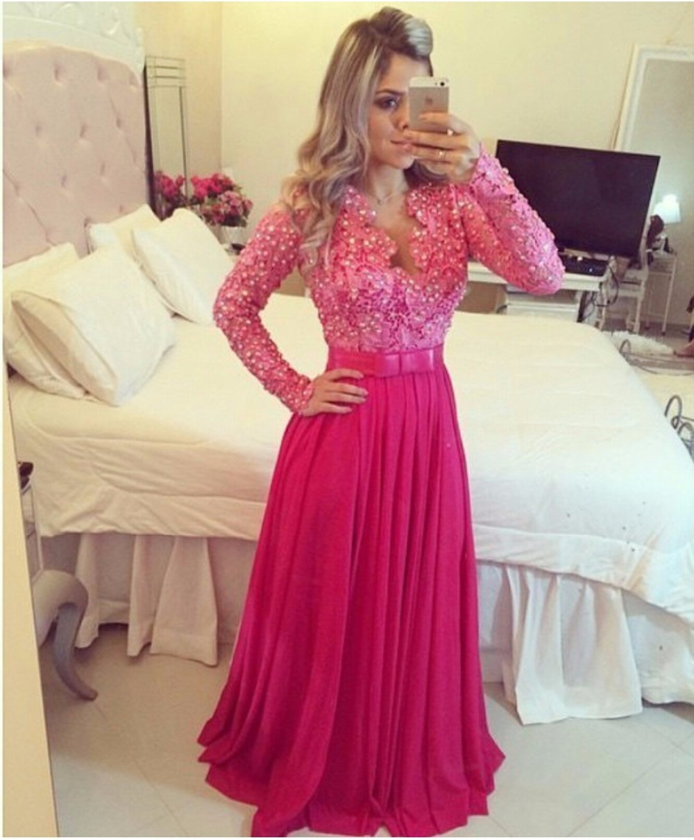 Long Pink Prom Dresses - Ocodea.com