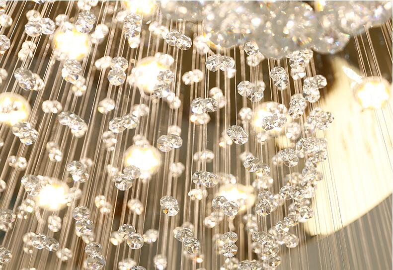 Kronleuchter Treppe ~ Duplex boden led kristall kronleuchter treppe licht chandelier