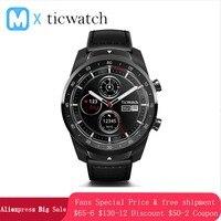 Ticwatch Pro Bluetooth Smart часы IP68 слоистых Дисплей Поддержка NFC платежи/Google помощник Носите ОС Google 415 mAH человек часы