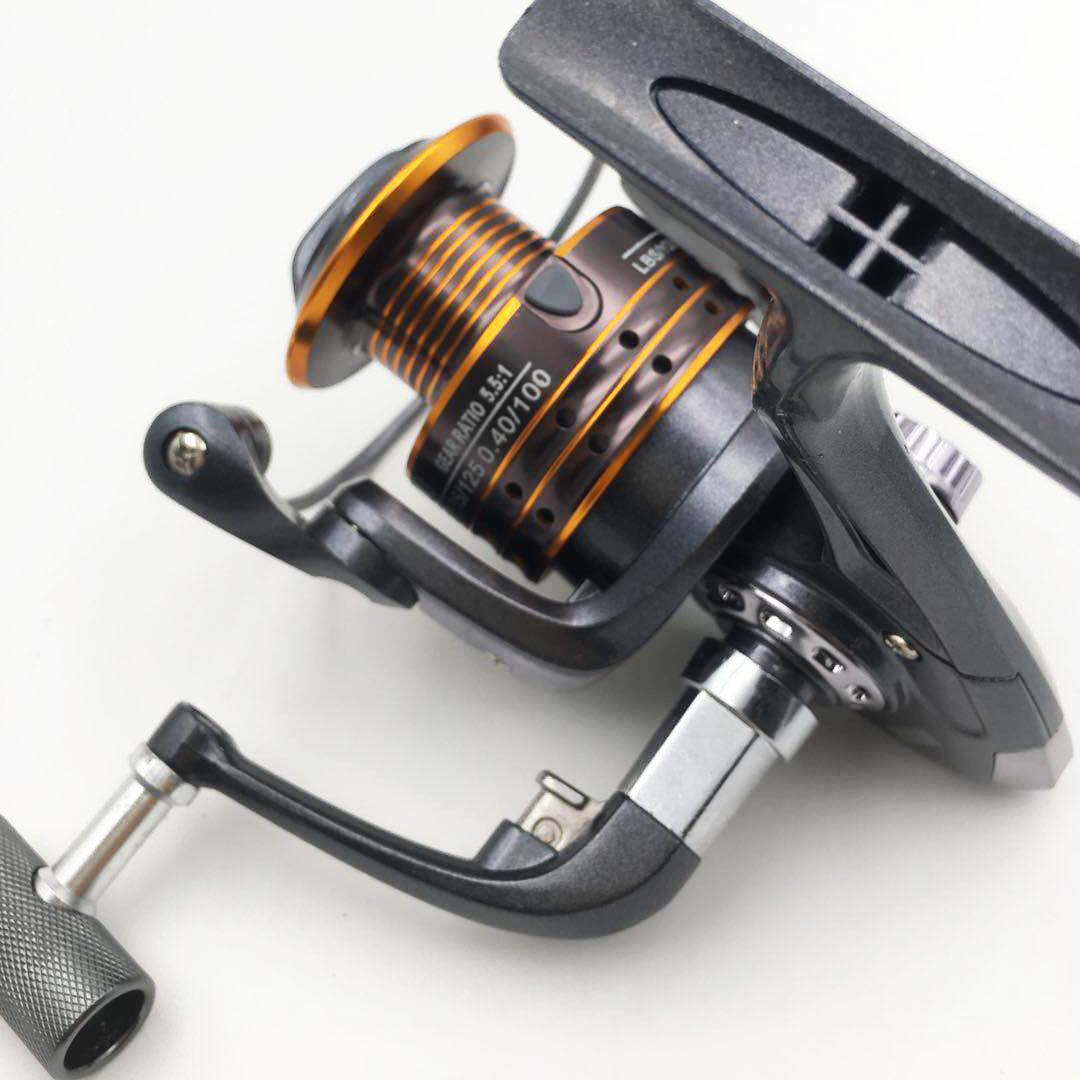WH Rod hand Feeder Reel Fish Carp 1000 5000 5:5:1 Pre-loading Fishing Spinning Reel Wheel Fish Tool
