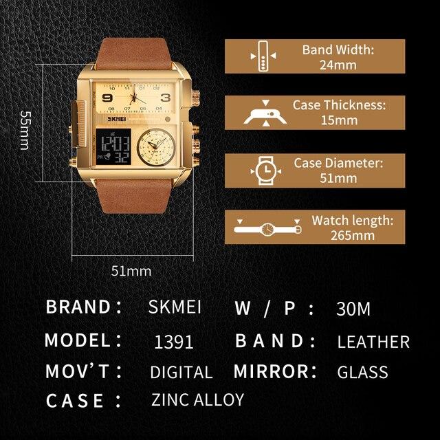 SKMEI hommes montre de sport 2020 haut de gamme marque militaire montres hommes Quartz analogique numérique montres hommes horloge Relogio Masculino