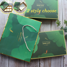 22*15*5cm 5pcs gold green Pond goldfish Paper Box as cookie wedding Christmas Birthday Party Gifts Macaron Chocolate Packaging