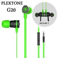 PLEXTONE G20 Gaming Oortelefoon Magneet Headset Noise Cancelling Oordopjes Stereo Bass Hoofdtelefoon Goedkopere PK Razer Hammerhead V2 Pro