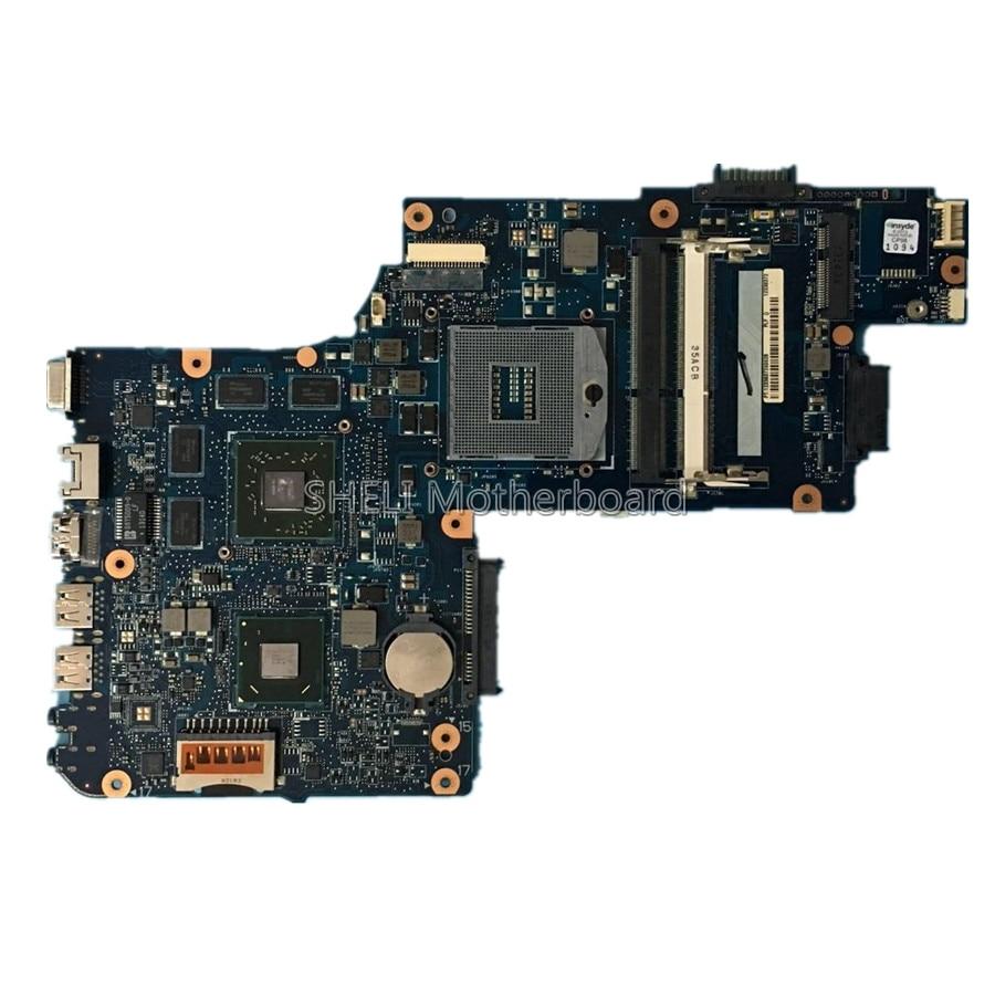 SHELI H000050760 Mère D'ordinateur Portable Pour Toshiba Satellite C850 C855 L850 L855 PLF/PLR/CSF/RSE HM76 HD 7670 m 1 gb Carte Principale