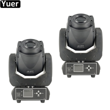 цены 2Pcs/Lot 90W Gobo LED Moving Head Light 3 Face Prism DMX512 Controller LCD Display DJ Spot Beam Light For Stage Disco club Party