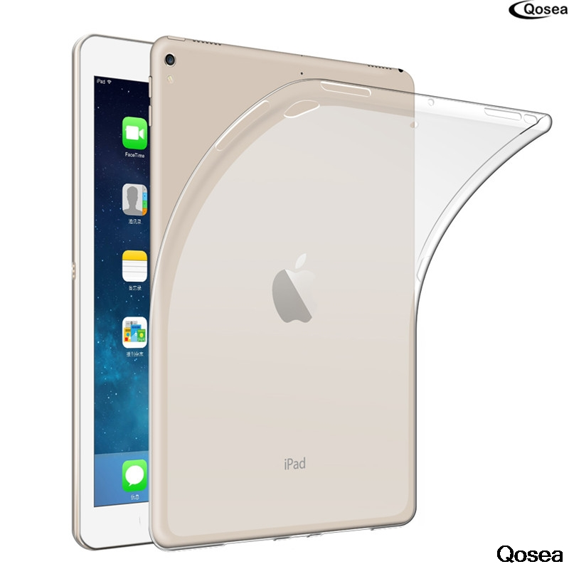 Qosea For Apple i Pad Pro 10.5Table Case Ultra-thin Transparent Soft TPU Silicone Protector For Apple i Pad Pro Table Cover