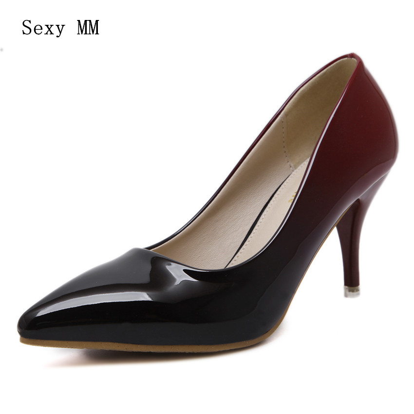 Patent Leather High Heels Women High Heel Shoes Pumps Stiletto Woman Party Wedding Shoes Kitten Heels Scarpin High Quality sexy shoes woman rivet high heels sandal stiletto heels women pumps party nightclub shoes patent leather womens shoes