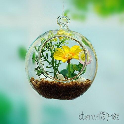 8 шт. модные прозрачный стеклянный круглый Террариум цветок РП висит ваза гидропоники домашнего офиса Свадебный декор сада