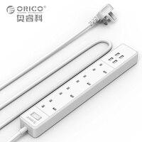 USB Şarj Şerit Kurşun Aşırı Yük Koruması ile 4 AC İNGILTERE Tak soket Güç Şeridi 2.4A Hızlı USB Şarj 5 Metre Güç Kablosu