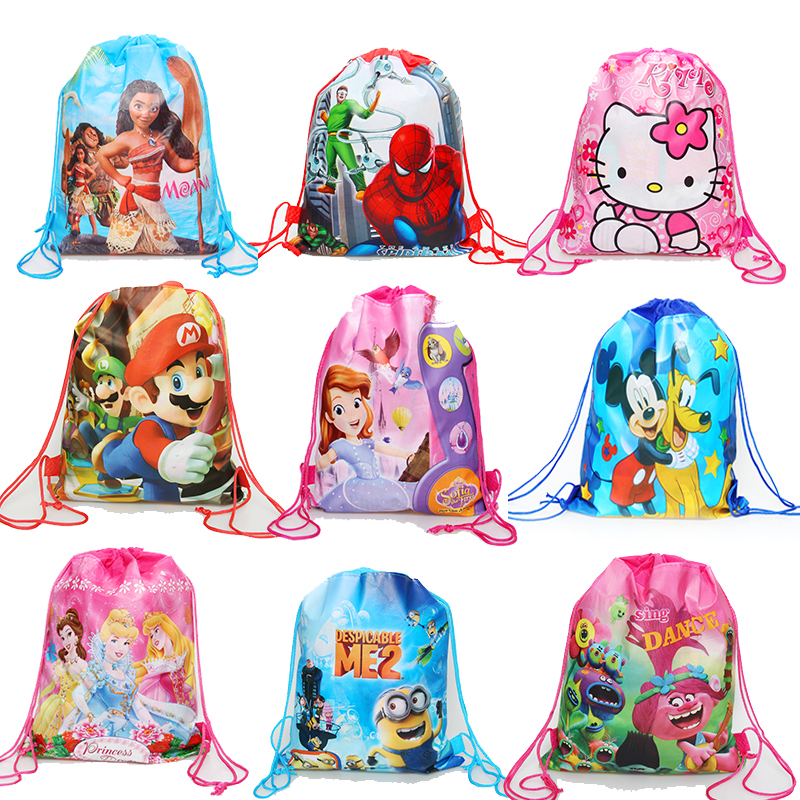200213a7f4b07 50 100P Cute Cartoon Plastic Bag Wedding Birthday Party Favors Cookie Candy  Gift Packaging Bags OPP Self Adhesive Pouch