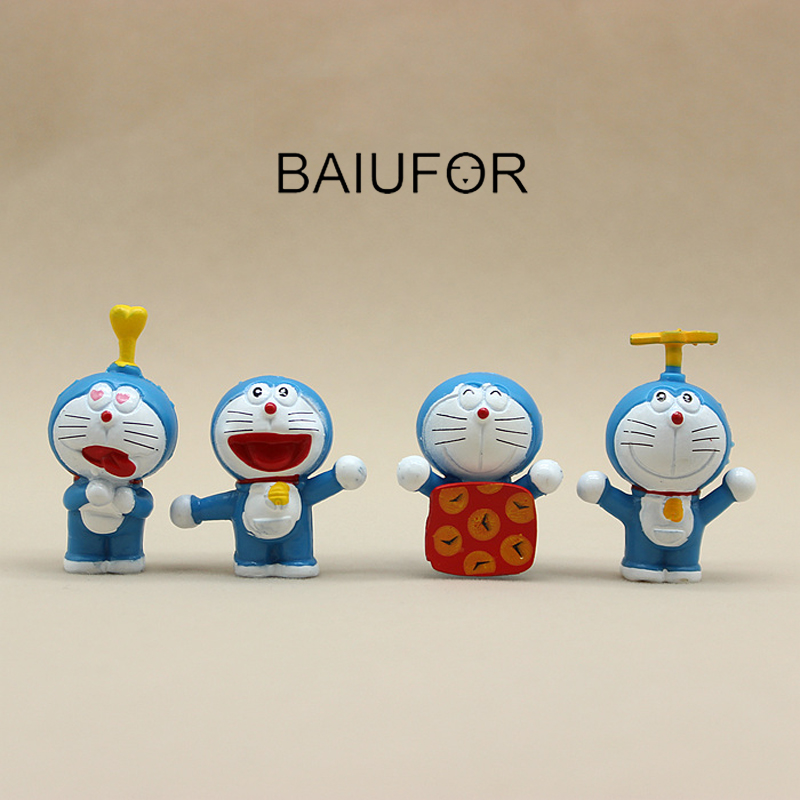 BAIUFOR Miniature & Figurines Cartoon Doraemon Figure Mini Garden Decor DIY Terrarium Moss landscape Accessories Children Toys