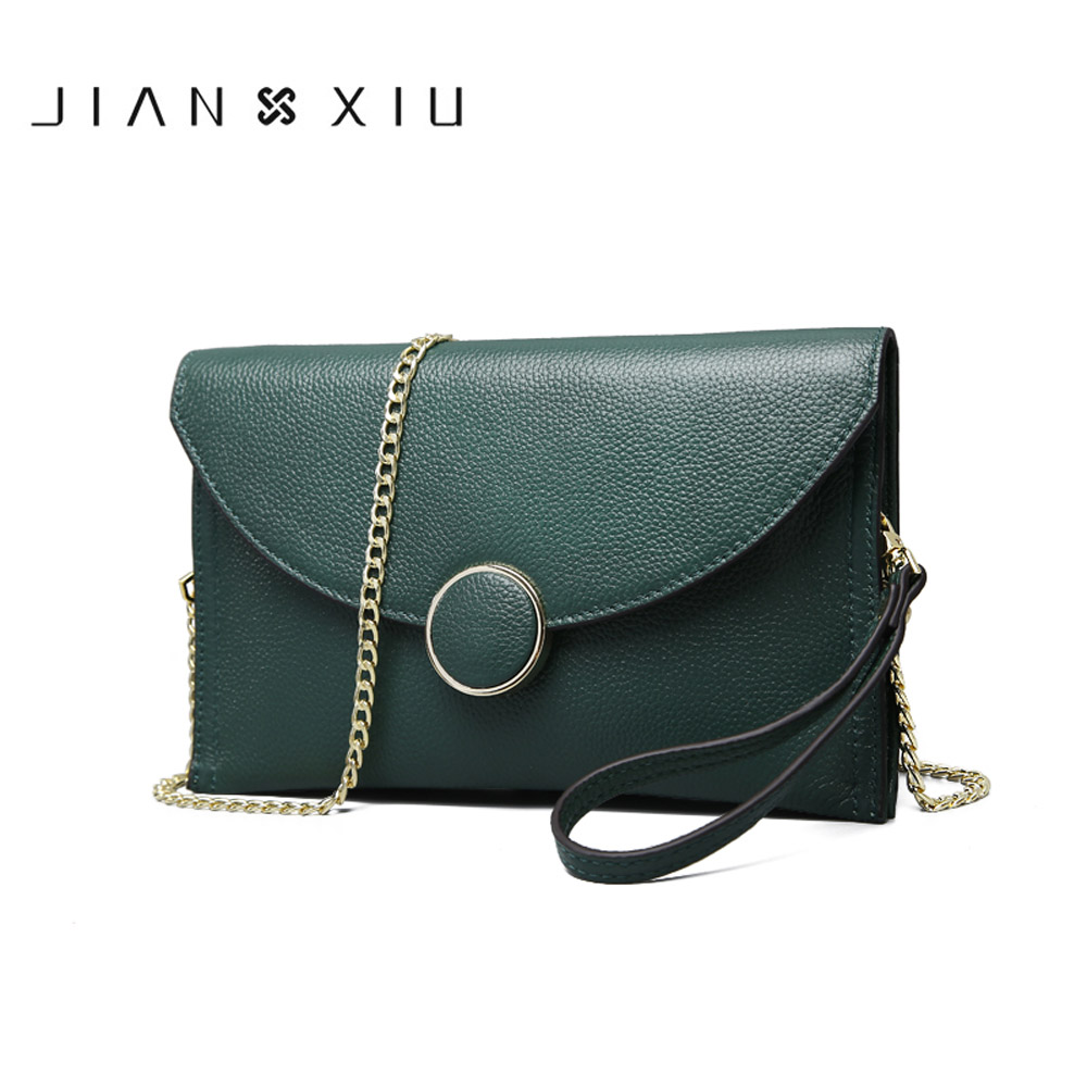 JIANXIU Brand Women Genuine Leather Messenger Bags Ladies Shoulder Bag Solid Purses Small Chain Crossbody Bags Wallets Clutches jianxiu brand fashion women leather handbags crocodile pattern messenger bags sac a main small shoulder crossbody bag chain tote