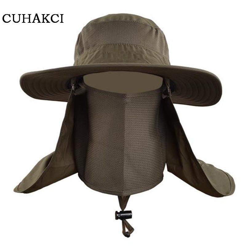 CUHAKCI Men Woman Fishing Bucket Boonie Cap Protection Hats