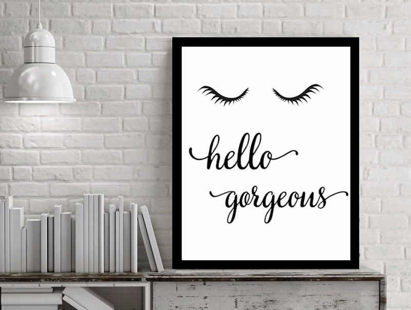 New Hello Gorgeons Quotes Canvas Oil Painting Fashion Art Pop Posters and Prints Wall Pictures Kids Bedroom Home Decor No Frame 3