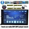 Горячая 2 DIN 7 дюймов Автомобиля Электронные радио MP5 MP4 плеер TF/USB Сенсорный Экран Blutooth AUX 5 языков меню FM поддержка сзади камера