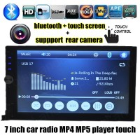 Hot 2 DIN 7 Inch Car Electronic Radio MP5 MP4 Player TF USB Touch Screen Blutooth