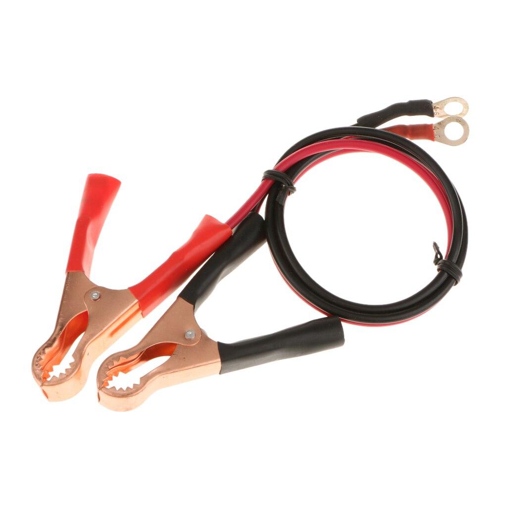 2 шт. 12В 50А клемма аккумулятора Аллигатор зажим для кабеля для автомобиля черный + красный предотвращает повреждение устройств пластик и мед...