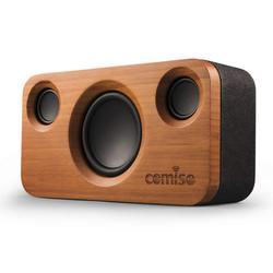 COMISO 25W głośniki z Bluetooth  podwójny sterownik bezprzewodowy głośnik stereo Bluetooth z drewna bambusowego  długi czas odtwarzania dla Echo Dot