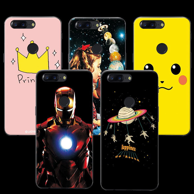 adlucky Phone Cases For OnePlus 5T Soft TPU Colorful Ample Designs Case Cover Funda For One Plus 5T Case Capa OnePlus 5 T 6.01