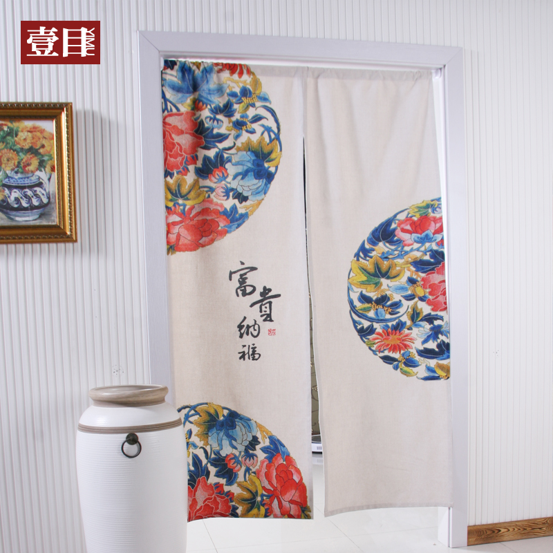 Nice Curtains Chinese Cotton Curtain Thickening Door
