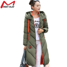 2017 Winter Down Jackets Women Winter Coats Female Long Hooded Cotton Padded Parka Wadded Outwear chaquetas invierno mujer YL739