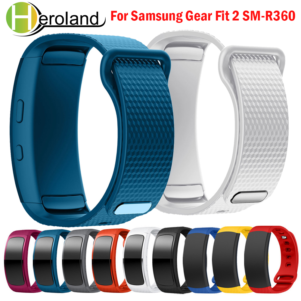 L/S Wristband Strap For Samsung Gear Fit 2 SM-R360 Watchbands Sport Luxury Silicone Replacement Smart Watch Band Bracelet Strap