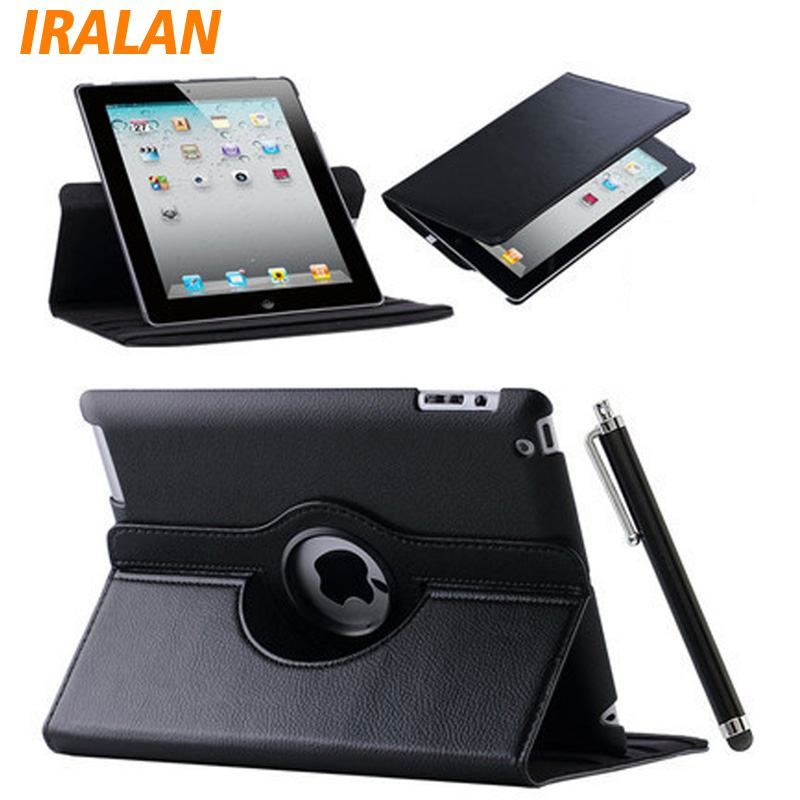 Case For Apple iPad Air 2/iPad 6 (2014) PU Leather Flip Smart Stand 360 Rotating Cover+Stylus Pen