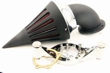 Black Spike Air Cleaner intake kit for Harle CV Carburetor Delph V-Twin CD