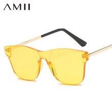 bcf931294c AMII2018 Retro Oversized Sunglasses Women Brand Designer Frameless Sun  Glasses Men Large Fashion Sunglass UV400