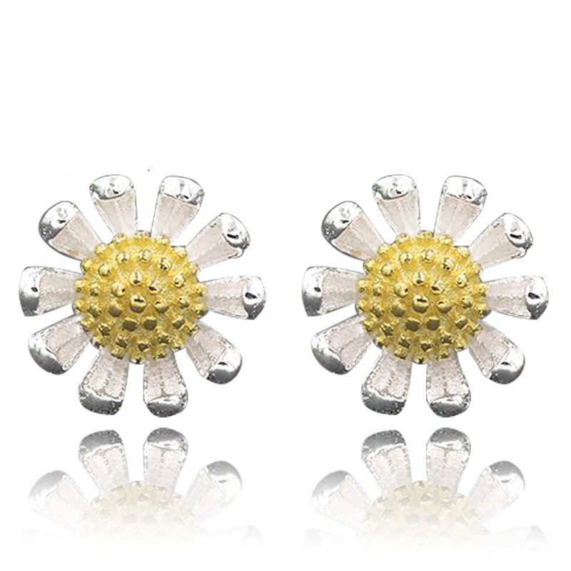 JEXXI Beautiful Flower Fashion One Pair 925 Sterling Silver Earring Accessories Luxury Jewelery Gift For Women