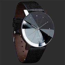 Fabulous NEW Luxury Quartz Sport Military Stainless Steel Dial Leather Band Wrist Watch Men women watch black