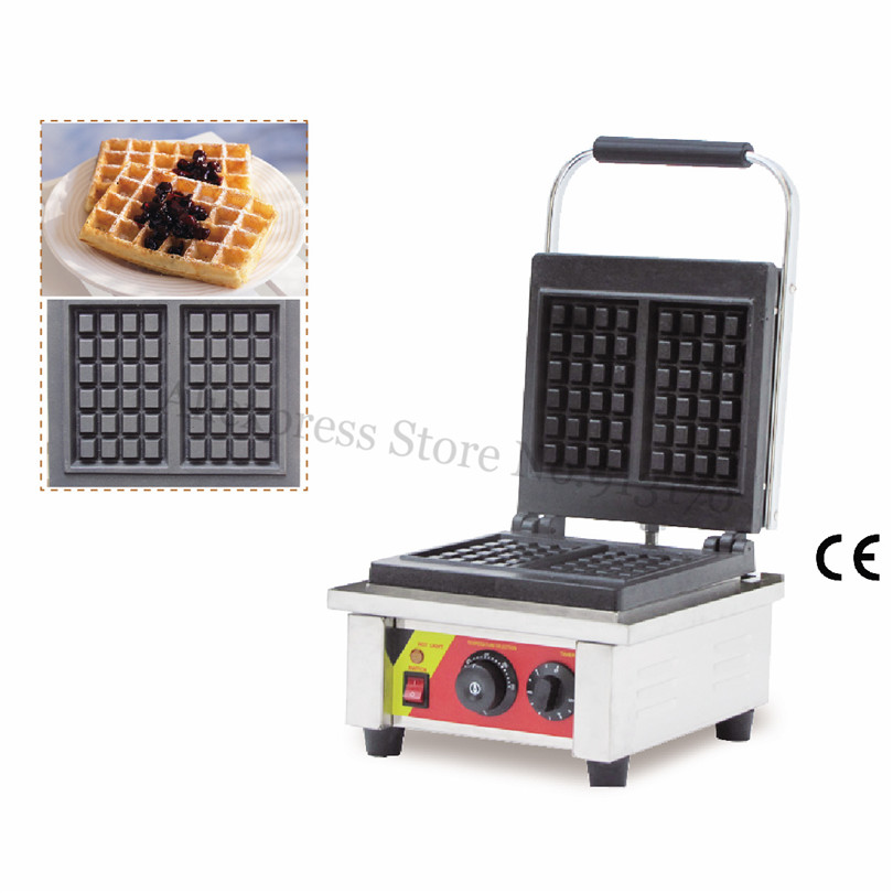 Rectangle Waffle Maker Commercial Square Waffle Machine Stainless Steel Square shaped With 2 pcs Moulds