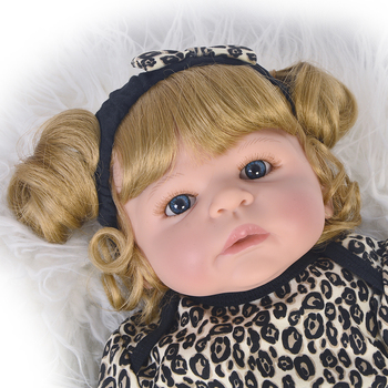 55cm Bebes reborn Full Body Silicone Reborn Sweet Girl Baby Doll Toys Newborn Princess Toddler Babies Doll gift for child
