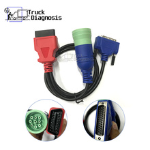9Pin to OBDII Cable for Portocol Adapter 5 universal Diesel Engines Diagnostic Scanner