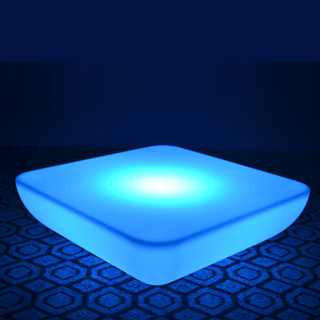 SK-LF28U (L62*W62*H21cm) Waterproof LED Bar Furniture Table Glowing Square Coffee Table for Wedding free shipping 2pcs/Lot