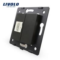 Livolo Manufacturer Black Plastic Materials EU Standard Function Key For HDMI Socket C7 1HDMI 12