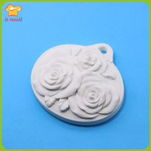 2018 new 3 rose silicone mold DIY high quality soap aroma plaster