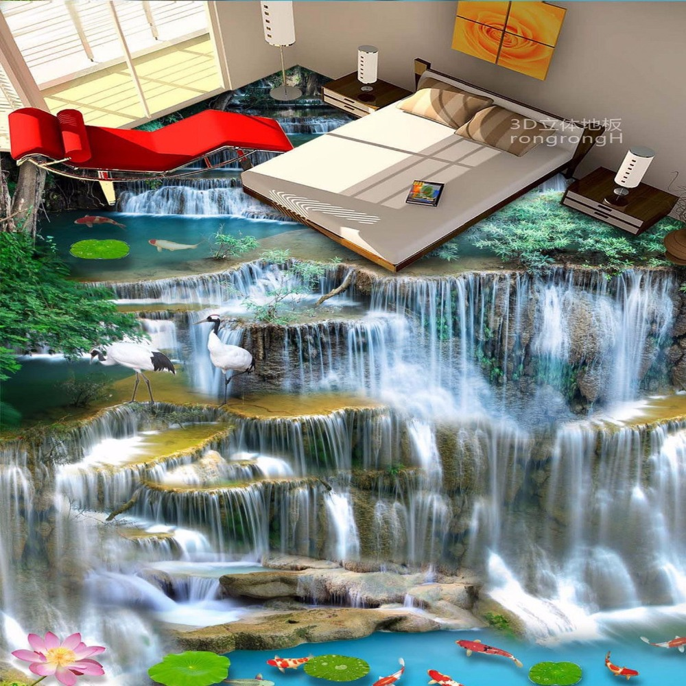 Good Wallpaper High Quality Waterfall - Free-Shipping-high-quality-Waterfall-Bathroom-office-kitchen-bookstore-non-slip-floor-wallpaper-mural  Snapshot_561785.jpg