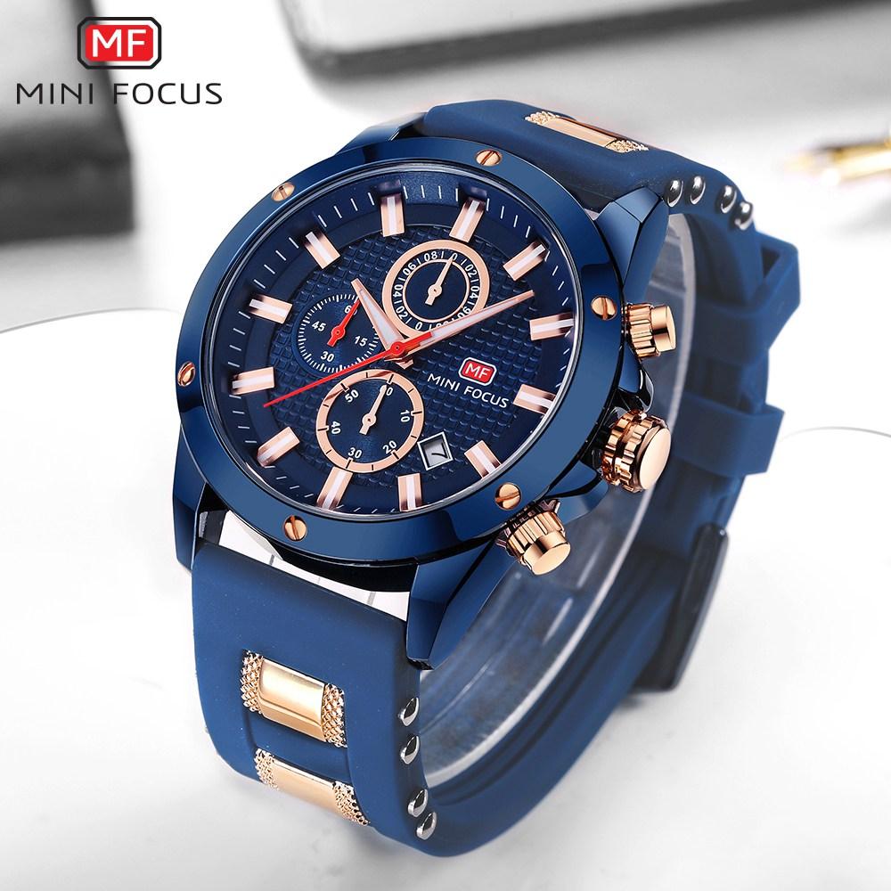 Image 3 - MINIFOCUS 2019 Men's Fashion Sport Watches Men Quartz Analog Date Clock Man Silicone Military Waterproof Watch Relogio Masculino-in Quartz Watches from Watches