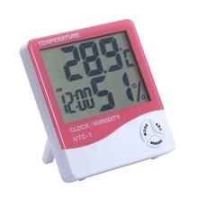 Sale Indoor Thermometer Humidity / Moisture / Temperature/  Hygrometer Alarm Clock