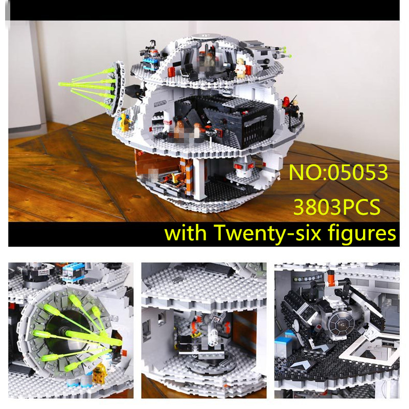 Stars Series War 3803pcs Death Star Model Building Kits Blocks Bricks Compatible 10188 Children Toys Gift 05035