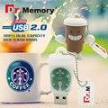 2016 Dr.Memory Pen Drive Starbucks Cup USB Flash Drive 8GB 16GB 32GB 64gb 2016 Cartoon Bottle coffee mug Flash Memory Stick