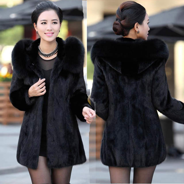 a767b89cd97 placeholder 2018 S - 6XL Women Winter Hooded Fake Fur Coats Plus Size 7XL  5XL Vintage Artificial