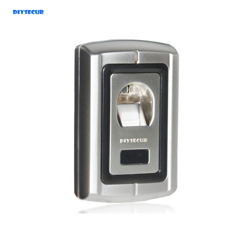 DIYSECUR Metal Case Fingerprint Door Lock Access Control Controller+ Remote Control biometric fingerprint access controller tcp ip fingerprint door access control reader